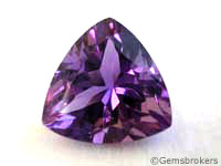 Amethyst trillion cut
