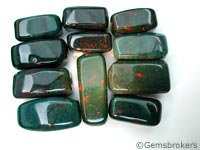 Bloodstone rectangle beads