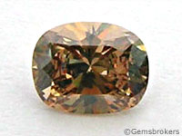 Brown diamond oval cut