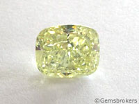 Yellow diamond cushion cut