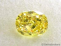 Yellow diamond oval cut