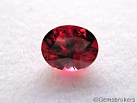 Oval cut spinel