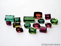 Mixed colors tourmalines